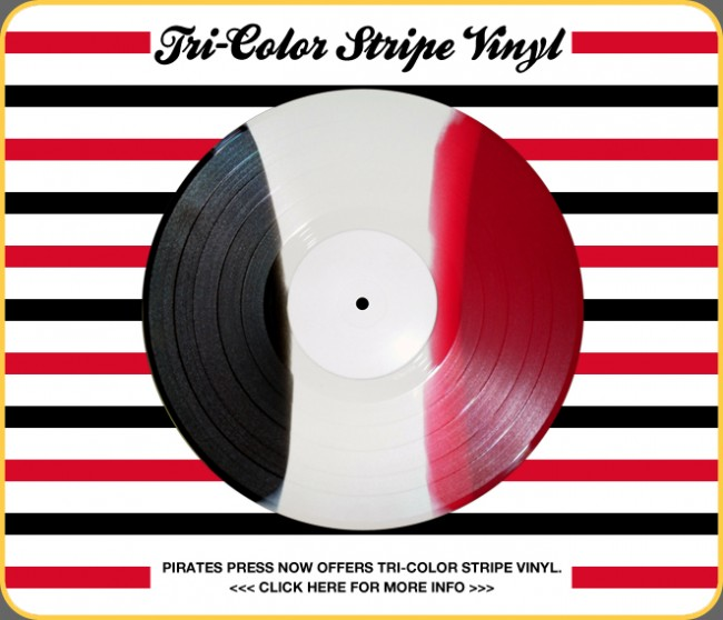 Tri-Color Striped Vinyl